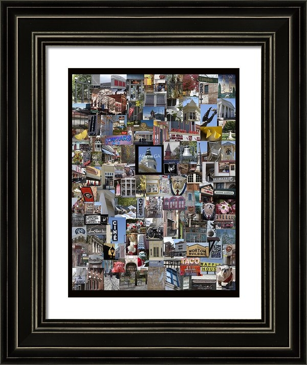 Sally Ross - Athens Collage Print