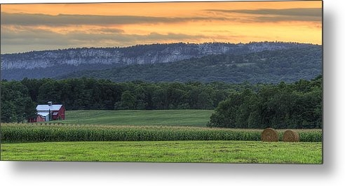 Donna Lee Blais - New Paltz Farm at sunset Print