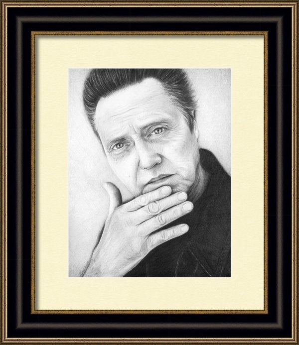 Olga Shvartsur - Christopher Walken Print