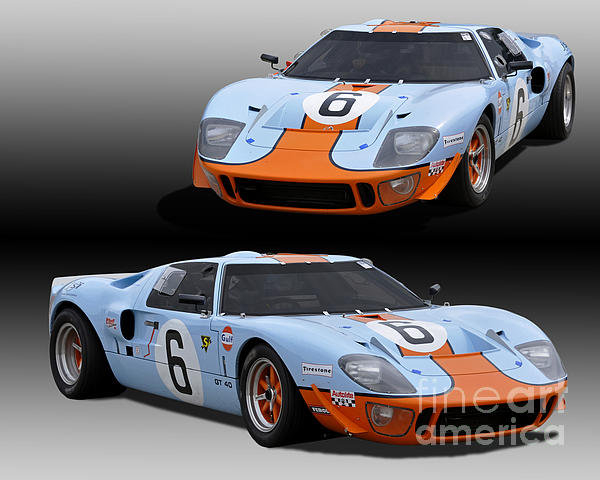 Tad Gage - Ford GT40 Race Car Print