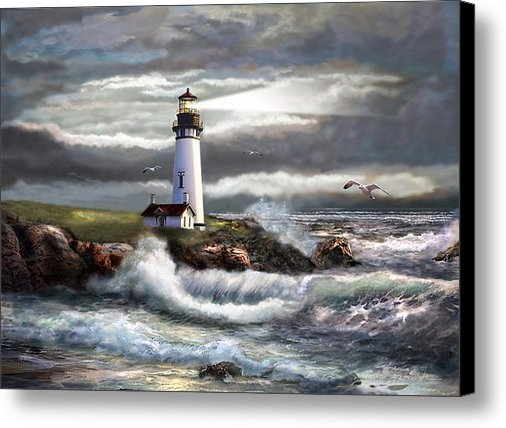 Gina Femrite - Oregon Lighthouse Beam of... Print