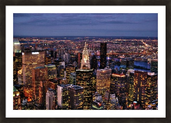 Randy Aveille - Midtown Skyline at Dusk Print