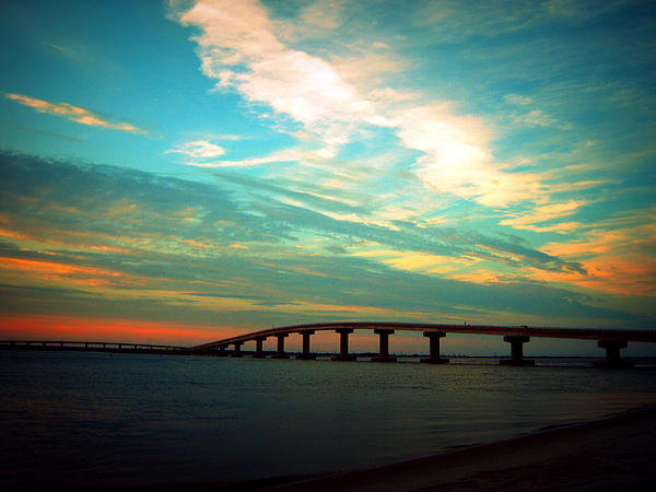 Mary McCusker - Ocean City Bridge Print