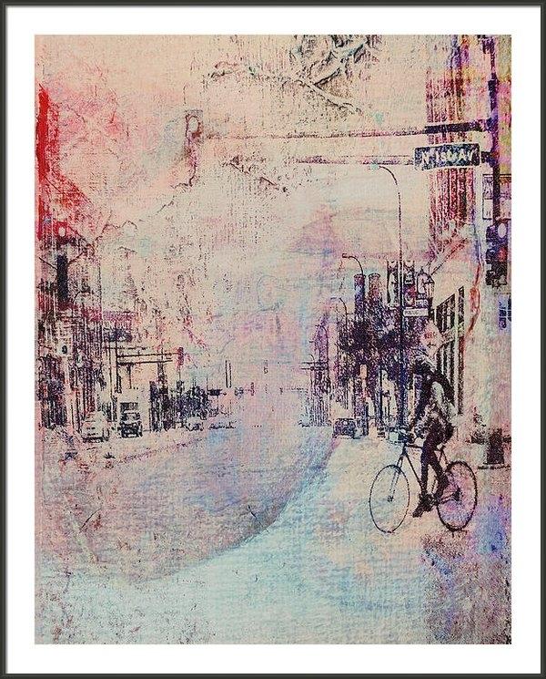 Susan Stone - Biking in the City Print