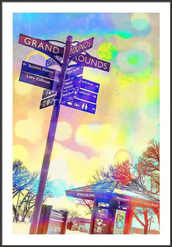 Susan Stone - Grand Rounds Lake Calhoun Print
