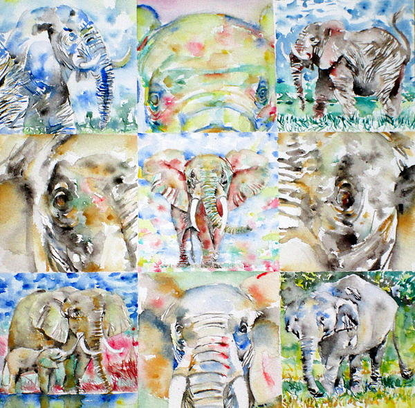 Fabrizio Cassetta - Elephant - Nine Points Of... Print