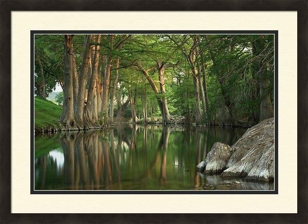 Paul Huchton - Guadalupe River Reflectio... Print