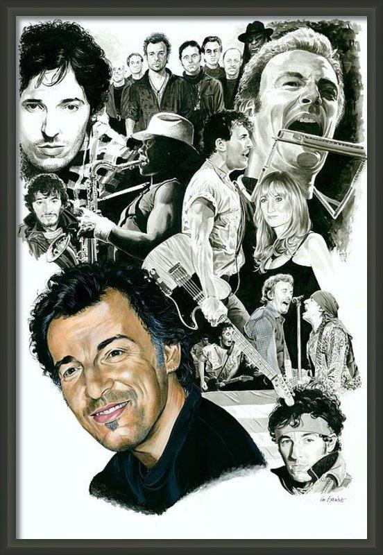 Ken Branch - Bruce Springsteen Through... Print