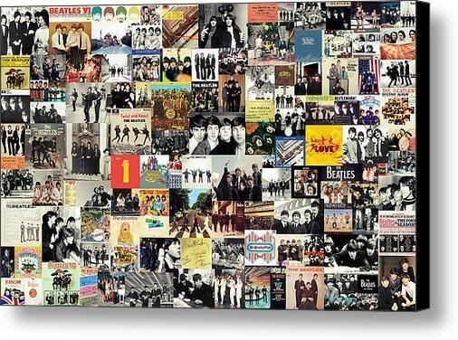 Taylan Soyturk - The Beatles Collage Print
