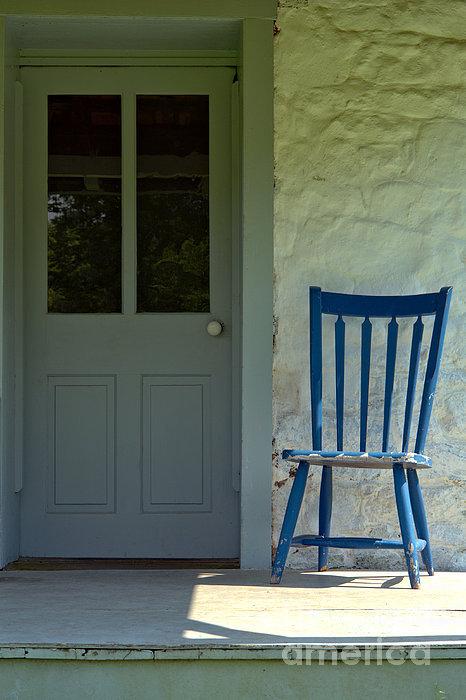 Olivier Le Queinec - Chair on Farmhouse Porch Print