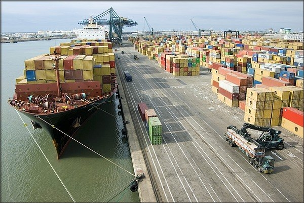 Dr Juerg Alean - Container Ship And Port Print