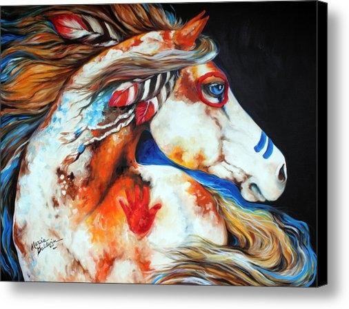 Marcia Baldwin - Spirit Indian War Horse Print
