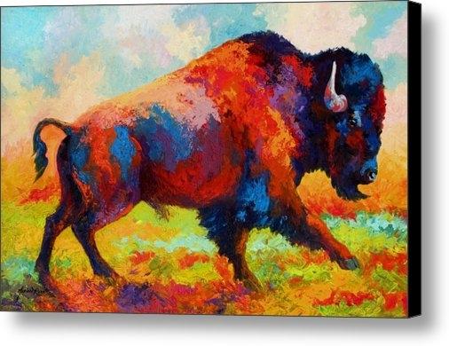 Marion Rose - Running Free - Bison Print