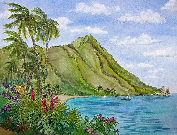 Bonnie Sue Schwartz - Diamond Head in Honolulu Print