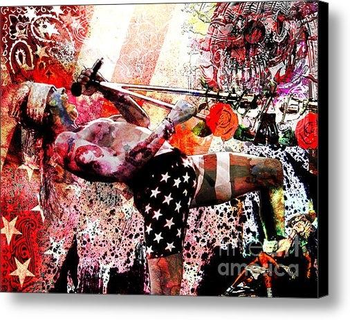 Ryan Rabbass - Axl Rose Original Print