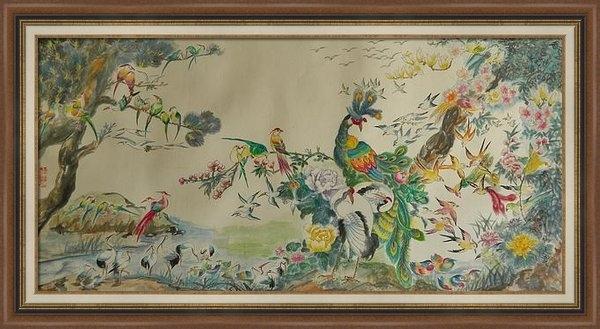 Min Wang - 100 Birds Print