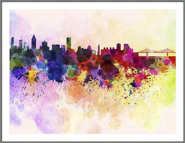 Pablo Romero - Montreal skyline in water... Print