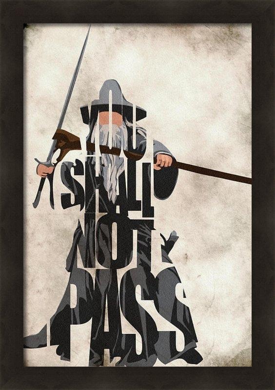 Ayse Deniz - Gandalf - The Lord of the... Print