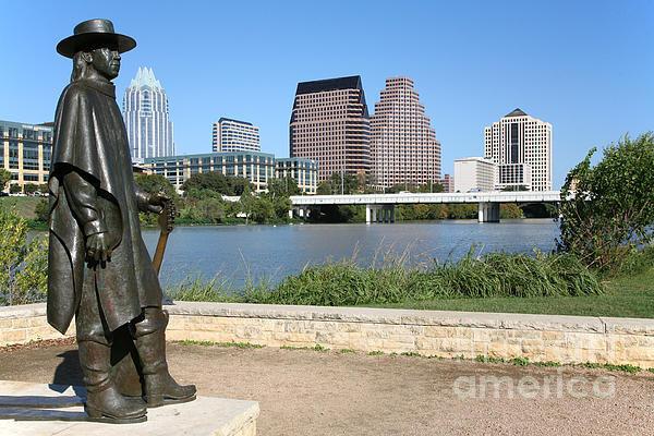 Bill Cobb - Stevie Ray Vaughan Statue... Print