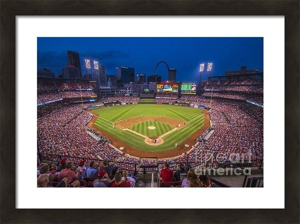 David Haskett - Busch Stadium Night Game Print