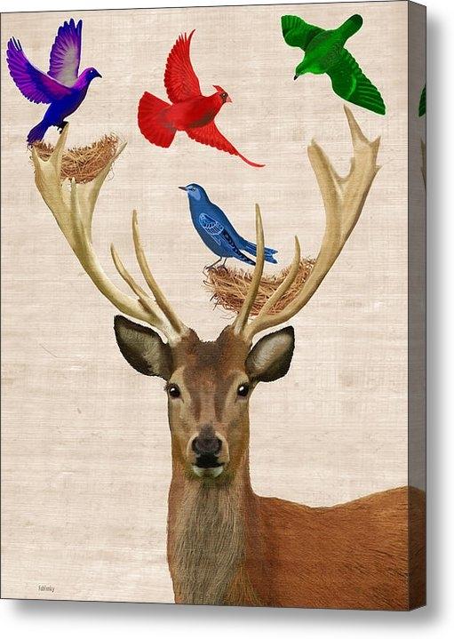 Kelly McLaughlan - Deer and birds nests Print