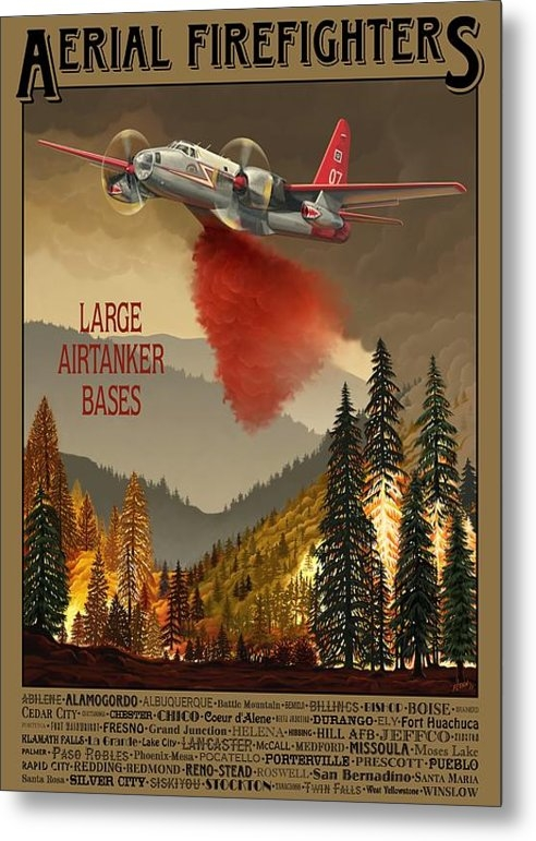 Airtanker Art - Aerial Firefighters Large... Print