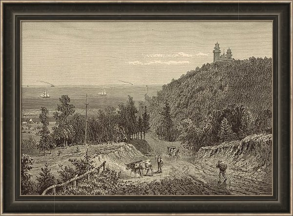 Antique Engravings - Beacon Hill at Neversink ... Print