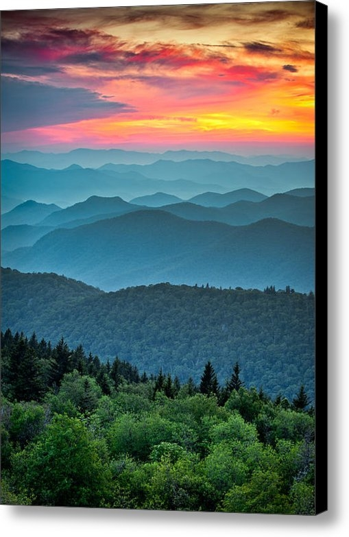 Dave Allen - Blue Ridge Parkway Sunset... Print
