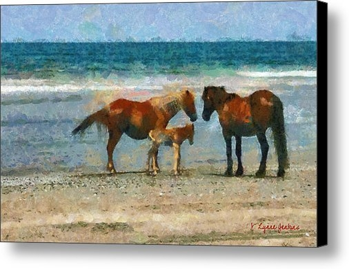 Lynne Jenkins - Wild Horses of the Outer ... Print