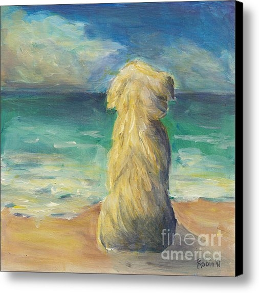 Robin Wiesneth - Beach Dog Print