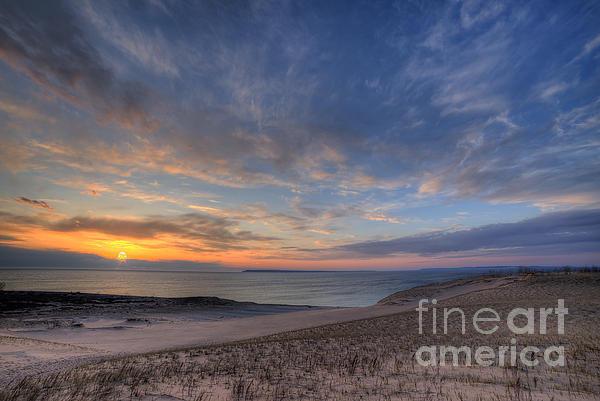 Twenty Two North Photography - Sleeping Bear Dunes Sunse... Print