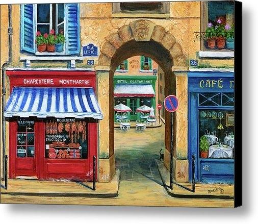Marilyn Dunlap - French Butcher Shop Print
