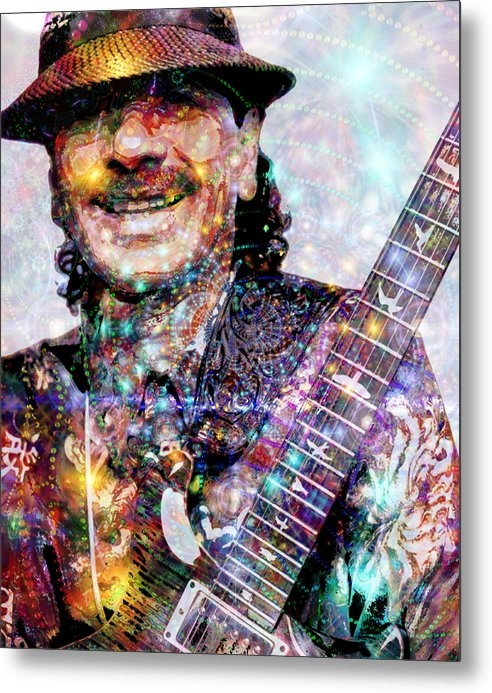 D Walton - Carlos Santana Print