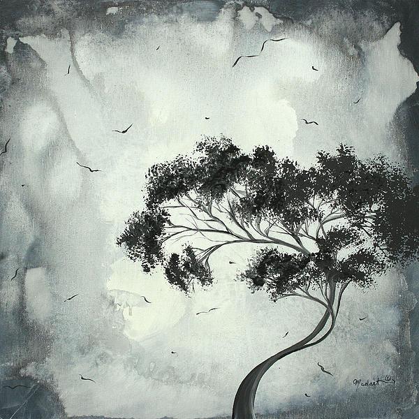 Megan Duncanson - Abstract Art Original Bla... Print