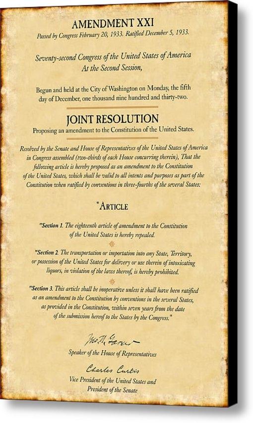B Easton - Prohibition Repeal Print