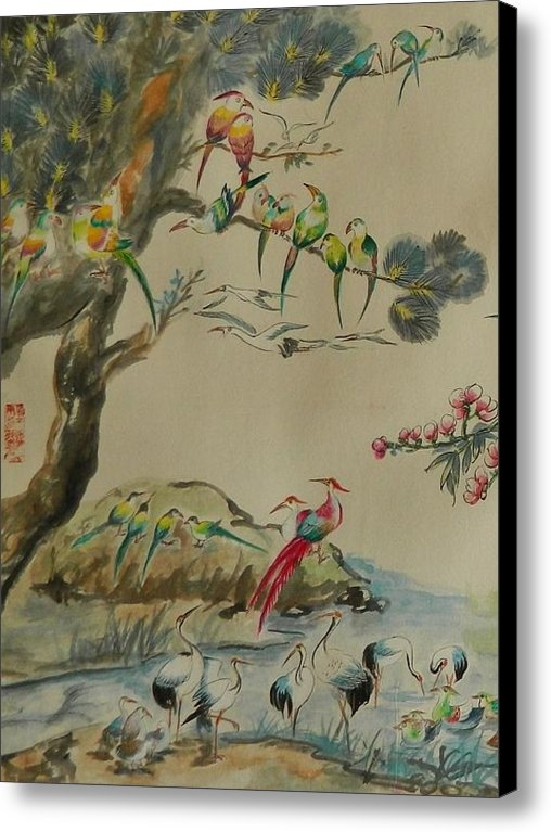 Min Wang - Cropped 1 - 100 Birds Print