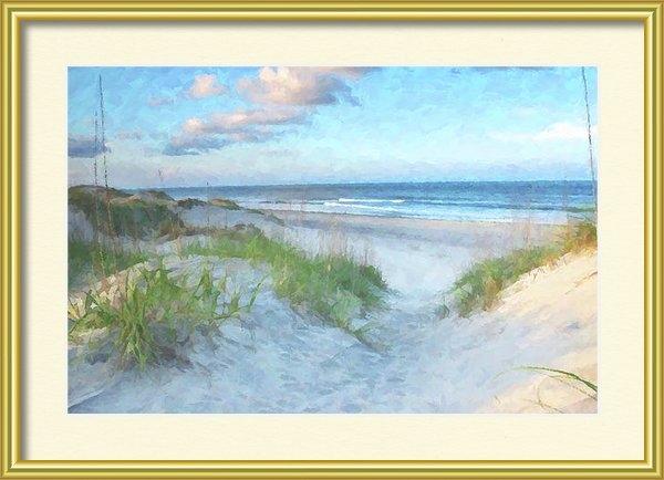 Randy Steele - On The Beach Watercolor Print