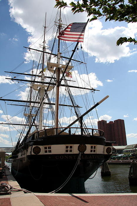 Christiane Schulze Art And Photography - Old Glory - USS Constella... Print