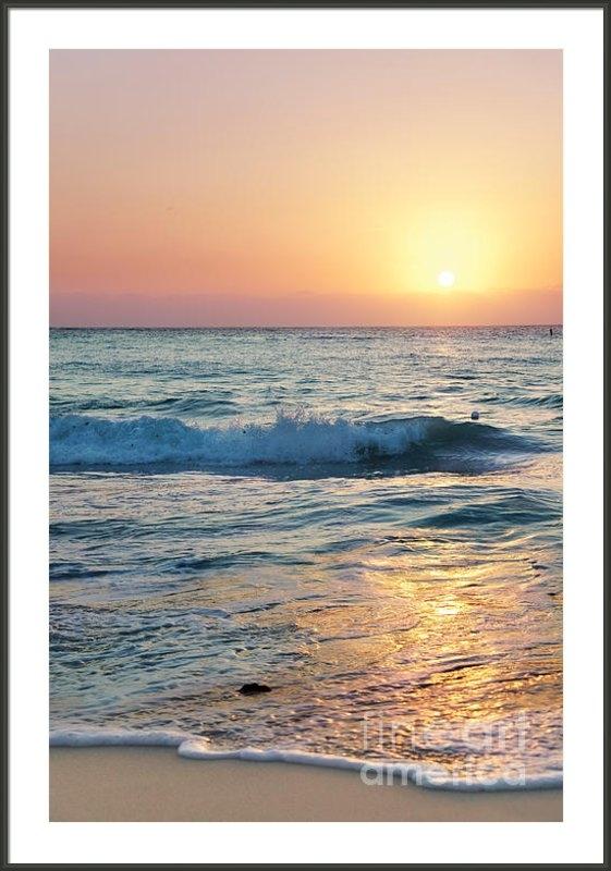 Jo Ann Snover - Sun sets over Seven Mile ... Print