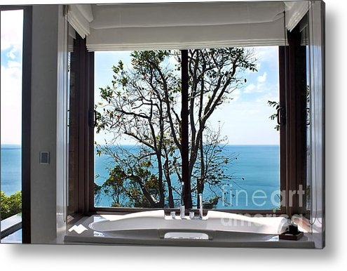Kaye Menner - Bathroom with a View Print