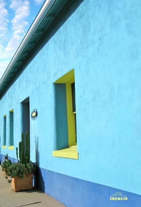 Allan Sorokin - Tucson barrio two tone bl... Print