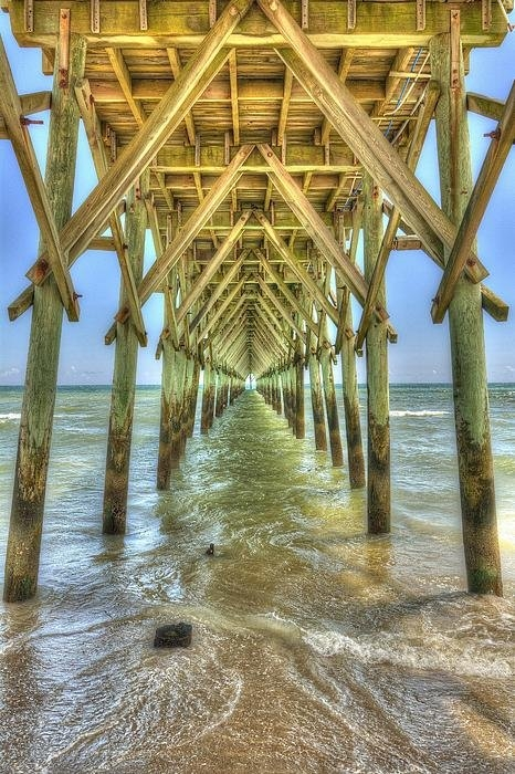 Chris Modlin - Surf City Pier Print