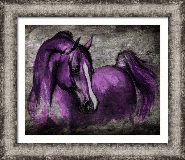 Angel  Tarantella - Purple One Print
