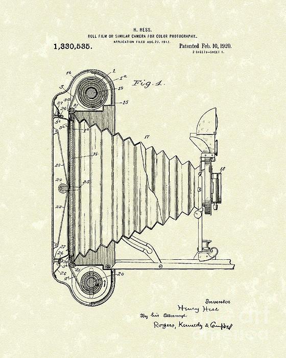 Prior Art Design - Camera 1920 Patent Art Print