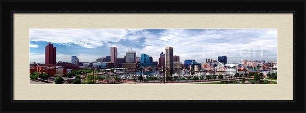 Olivier Le Queinec - Baltimore Skyline - Gener... Print