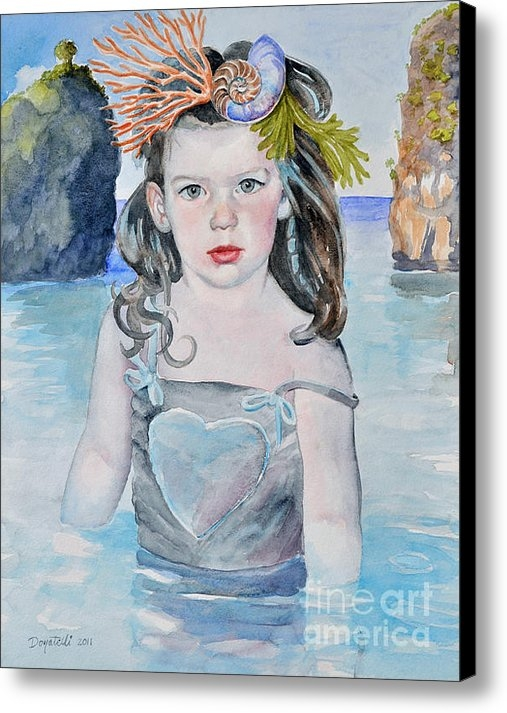 Kathryn Donatelli - Stella Silver Mermaid Print