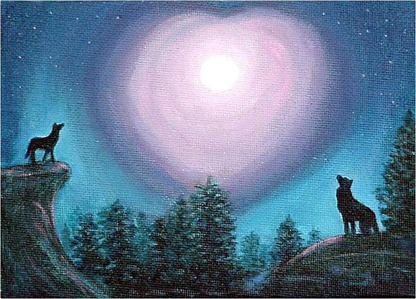 Fran Brooks - Wolf Heart Song Print
