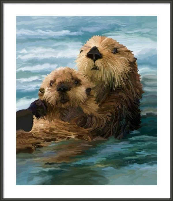 David Wagner - A Loving Mothers Arms Print