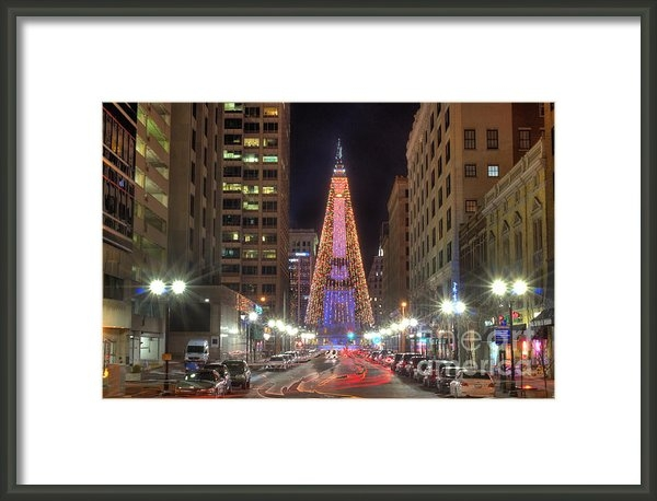 Twenty Two North Photography - Monument Circle Christmas... Print