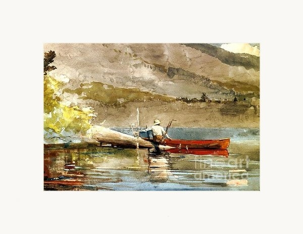 Pg Reproductions - The Red Canoe Print